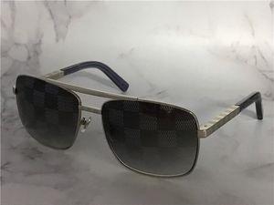 Turuncu kutu ile erkekler tutum 0259 Metal kare kare blokları UV400 Lens açık koruma gözlük için bağbozumu tasarım güneş gözlüğü