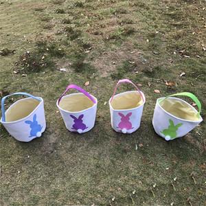 Saco de Presente de Páscoa Rabbit Easter Easter Sacos Linen Canvas Armazenamento Sacos de Rabbit Cesta Presentes Caixa para Páscoa IB658