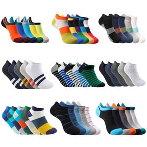Nuova estate primavera molo marca moda uomo calzini alla caviglia casual colorato puro cotone pantofola calze no logo (5 paia / lotto)