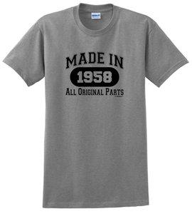 60th Birthday Gifts Made 1958 Tutte le magliette originali