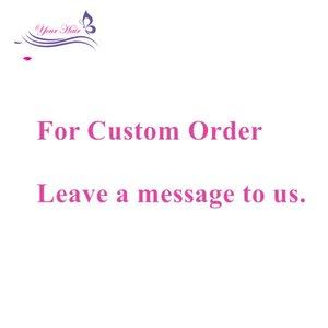 Customzied Order Link 남성용 버진 레미 헤어 번들 딜링 익스텐션 레이스 클로저 프론트 360 레이스 무료 배송