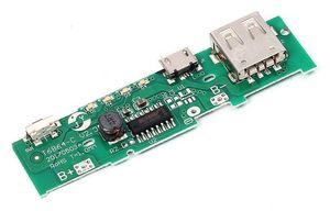 3 pz / lotto 5 V 1A Power Bank Charger Board circuito di ricarica PCB Board Step Up Boost Modulo di Potenza Cellulare Per 18650 Batteria FAI DA TE