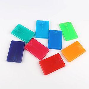 20 ml Kunststoff Kreditkartenform Taschenformat Flache Sprühflasche für Parfüm Frauen Kosmetische Einweg Zerstäuber Kappe Topf