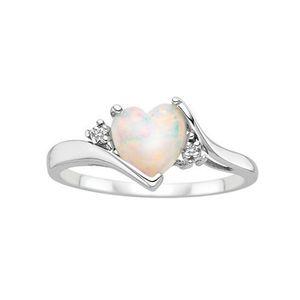 Женская стерлингового серебра 925 кольцо любовь Сердце вырезать Огненный опал ювелирные изделия Рождество День Рождения предложение подарок свадебные обручальные кольца