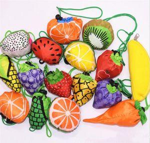 Katlanabilir Kullanımlık Alışveriş Torbaları Meyve Tote Eko Depolama Bakkal torbaları Alışveriş Tote İpli Çanta FFA674 60 adet