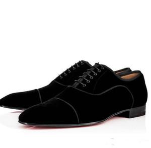 أزياء العلامة التجارية شهم حذاء أحمر أسفل Greggo Orlato شقة جلد طبيعي أكسفورد أحذية الرجال المشي شقق حفل زفاف الجلد المدبوغ اللباس متعطل