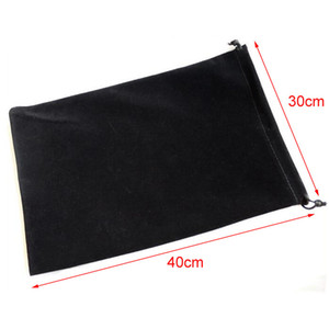 Großhandelsgroße 20pcs / lot 30x40cm schwarze Verpackungs-Kordelzug-Samt-Beutel für Weihnachtshochzeits-Geschenk-Beutel-Dekorations-Geschenk-Beutel