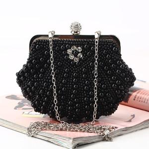 Pearl сумки ручной Алмазные горный хрусталь Роскошный банкет пакет Pure ручной сатин вечерние сумки для новобрачных и леди износа