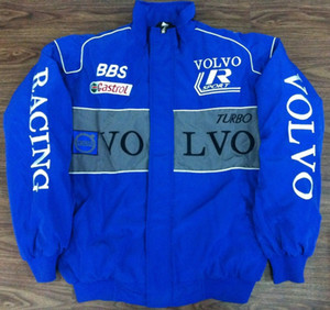 2018 VOLVO blue Embroidery EXCLUSIVE JACKET suit nascar car F1 team racing