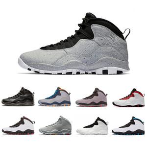 Mais novo 10 10 s Mens tênis de basquete Westbrook New Cement eu estou de volta linces Chicago Cool cinza pó azul aço cinza preto homens tênis esportivos