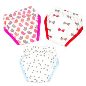 3 Unids / lote Baby Potty Pantalones de Entrenamiento Niño Niña Algodón Pañales para Niños Pequeños Aprendizaje Bragas Reutilizable Lavable