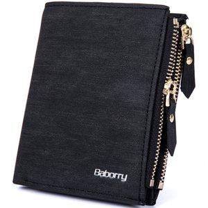 Nueva RFID Blocking Protection Anti-Theft Scan Hombres Biflod Short Wallet Zipper Monedero Funda Casual PU Leather Money Purse Hot 1PCS