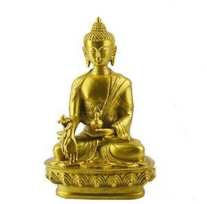 Оптовая Дешевые Освящение Медицина Будда Латунь Цвет Смолы Статуя Буддизм Украшения Ремесла