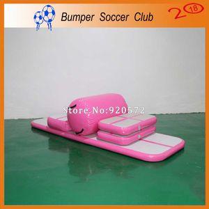Free ShippingPump 3x0.9x0.1 m inflável ginásio esteira de chão pista de ginástica piso acrílico cheerleading mat truque pad para taekwondo ginásio esportes