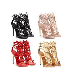 New list wings bird mixed colors sexy high-heeled women shoes high quality nightclub fine personality fashionable catwalk sheel shose