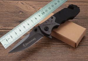 OEM Browning-F122 Coltelli pieghevoli tattici G10 maniglia 57HRC acciaio campeggio caccia sopravvivenza coltelli tascabili militare utilità strumenti a mano clasp