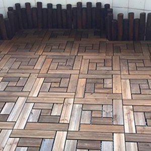 Baldosas decorativas para pisos con piso de decoración en caliente con acabado aceitado de madera de teca maciza