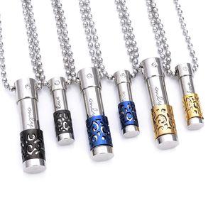 Bottiglia di profumo della collana del pendente 316L di titanio in grado di aprire la bottiglia gioielli Diffusore Locket Donne Uomo collane