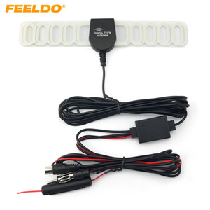 FEELDO Car 2IN1 FM IEC Connecto Antena de TV Antena de radio con amplificador Booster # 1728