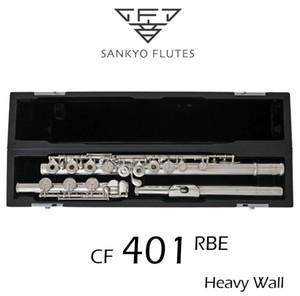 Professionelle Sankyo CF-401 FLÖTE ETUDE E-Taste Geteilte versilberte Flöte C-Ton 17 Löcher Offener Offset G-Kopie