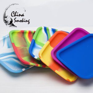 DHL Silicone Tray Food Grade Silicone Jar Container Dish Wax Dab Oil Concentrate Nonstick L* W*H=200*150*20MM Mixed colors