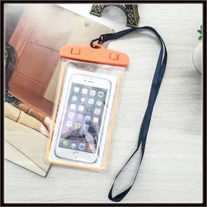 유니버설 방수 케이스 가방 아이폰 X 8 8s 플러스 삼성 S9 S7에 대 한 빛나는 전화 주머니 휴대 전화에 대 한 물 증거