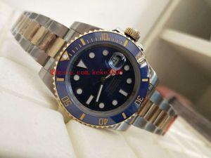 En iyi Sürüm Saatı NFactory V7 116613LB 116613 40mm 18 K altın paket İsviçre ETA Hareketi Otomatik mekanik Mens Watch Saatler