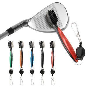 골프 그루브 청소 브러쉬 2 양면 퍼터 웨지 볼 그루브 클리너 키트 청소 도구 골프 액세서리