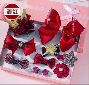 Çocukların saç klip headgear Kore versiyonu çocuklar yan saç klip şapka aksesuarları 10 takım tam paket yan klip hediye kutusu