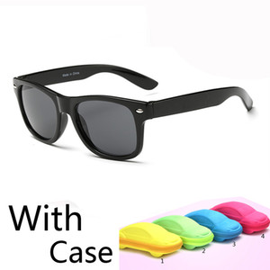 2016 새로운 클래식 어린이 아기 소녀 소년 아이 선글라스 uv 보호 어린이 태양 차 고글 UV400 선물 자동차 케이스 안경