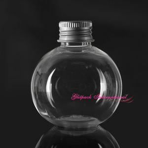 50 unids / lote 120 ml 4.2 oz suministros de enlatado de bolas PET Bola de plástico tarros al por mayor Único Forma global Especial Rellenado Botellas Tarros crema