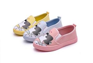 2018 nuevos niños lindos zapatos niñas zapatos de lona de moda pintura de dibujos animados cómodos niños zapatos casuales zapatillas niño niñas