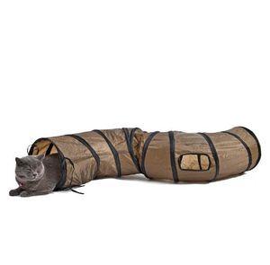 """""""S"""" Funny Pet Tunnel Katze-Spiel Brown Faltbare 1 Löcher Cat Tunnel Kätzchen Katze Spielzeug Groß Katze Spielzeug Kaninchen spielen Tunnel"""