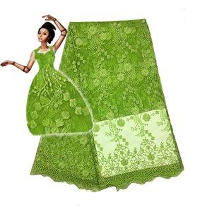 5yards / Lot último diseño 2018 tela africana nigeriana del cordón del cordón de la alta calidad para el vestido de fiesta Fc1601 -11t, envío libre