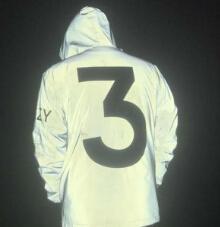 Saison 3 Numéro de veste réfléchissante 3 Imprimé Mode Vestes Coupe-vent Printemps Automne Manteaux Survêtements