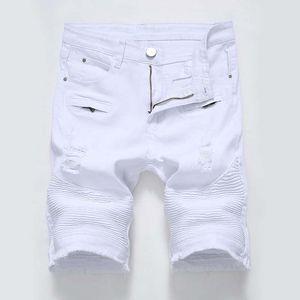 2019 Mens jeans shorts bikers jeans Pantalons courts Skinny Slim trou déchiré Denim Shorts hommes Designer jeans