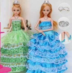 """12 articulações móveis corpo princesa boneca de 30 cm 11 """"projeto do casamento vestido de suíte brinquedo das crianças brinquedo menina presente"""