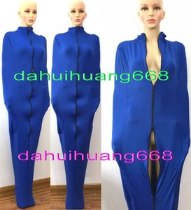 Sexy Blue Lycra Spandex Mummy Suit Costumes Unisex Sleeping Bags Outfit Unisex Mummy Cosplay Costumes With internal Arm Sleeves DH173