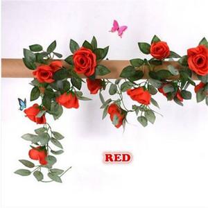"""HEIßE Verkäufe Künstliche Rose Garland Silk Blume Reben Ivy Hochzeit Garten Party Decor 51 """"Party Dekoration"""