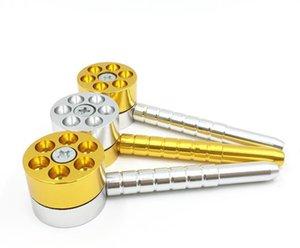 Creativo cartuccia revolver, tubo, lega di alluminio, sigaretta, tubo, accessori per fumatori in metallo.
