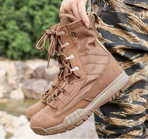 Hommes Bottes Chaussures Mâle Desert Work Cheville Botas Tactique Masculine Travaillant Chasse Militaire Couture Coudre Bottes De Combat Super Légères