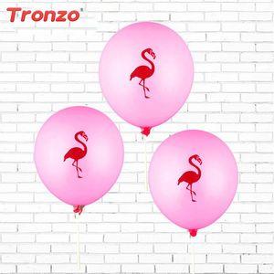 2018 10 Unids 12 Pulgadas Pink Flamingo Party Globos Látex Inflable Ballon Tropical Party Supplies Decoración de La Boda