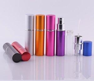 5ml Mini Spruzzo Bottiglia di profumo Viaggi Riutilizzabile Contenitore cosmetico vuoto Bottiglia di profumo Atomizzatore Bottiglie riutilizzabili in alluminio