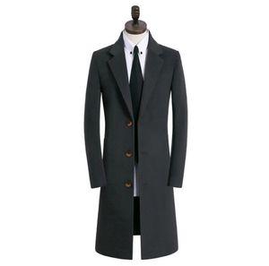 Осень wintercasual шерстяное пальто мужчины тренчи длинные рукава пальто Мужские кашемировые пальто casaco masculino inverno эркек Англии