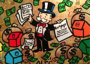 Alec Monopoly Gun Man Art Poster en soie imprimée 24x36 pouces (60x90cm)