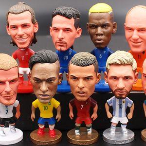 7 cm pouces Football Étoile Doll Mini Figure jouet jouets Messi Coutinho Ronaldo Griezmann bon cadeau pour le football amoureux