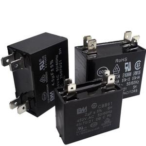 450VAC CBB61 condensateur 1.2 / 1.5 / 2 / 2.5 / 3 / 3.5 / 4 / 4.5uF pour les ventilateurs du climatiseur