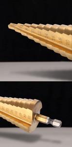 Freeshipping أدوات 4-32 ملليمتر خطوة مثقاب مثقاب أدوات السلطة خطوة مخروط مثقاب تفتق عرافة التيتانيوم هول القاطع hss ل الصفائح المعدنية