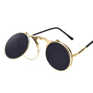 الرجال جولة النظارات الشمسية النظارات الشمسية المعدنية فاسق البخار دي سول النساء طلاء SUNGLASSES الرجال ريترو CIRCLE SUN GLASSES