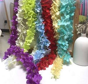 """Yeni Gelmesi 6 renk 34 cm / 13.4 """"Yapay ipek Çiçekler Ev duvar Bahçe Otel Düğün Dekorasyon Wisteria vine rattan DIY"""